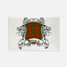 Bruce Tartan Shield Rectangle Magnet
