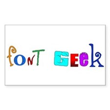 Font Geek Rectangle Decal