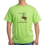Give Me Caffeine... Green T-Shirt