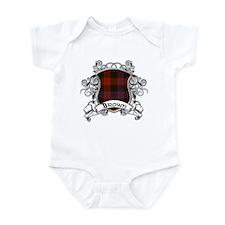 Brown Tartan Shield Infant Bodysuit