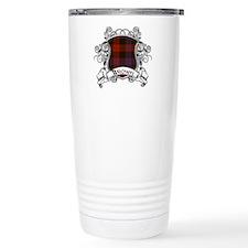 Brown Tartan Shield Travel Mug