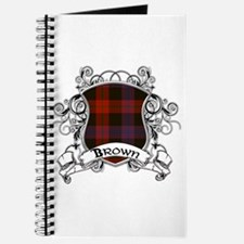 Brown Tartan Shield Journal