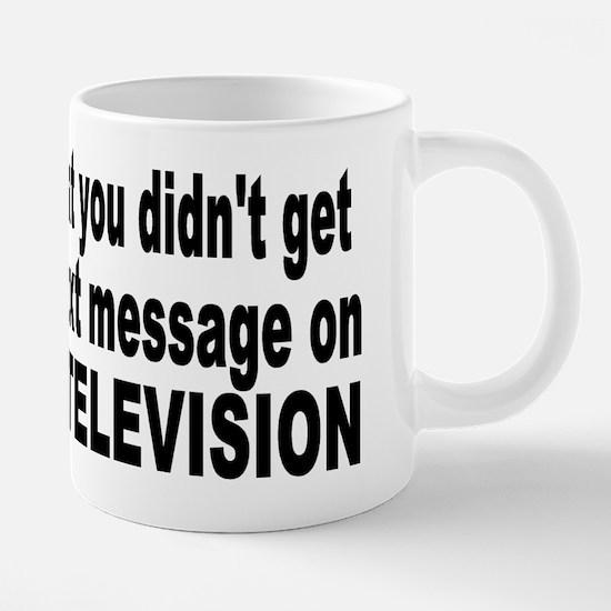 dumped on tv.png 20 oz Ceramic Mega Mug