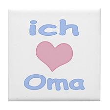 I Heart Grandma German Tile Coaster
