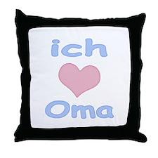I Heart Grandma German Throw Pillow