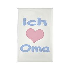 I Heart Grandma German Rectangle Magnet