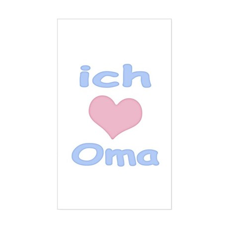 I Heart Grandma German Rectangle Sticker