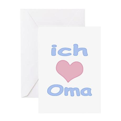 I Heart Grandma German Greeting Card