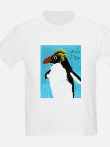 Macaroni Penguin Kids White T-Shirt