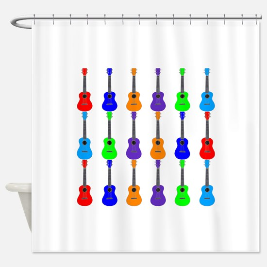Ukuleles Shower Curtain
