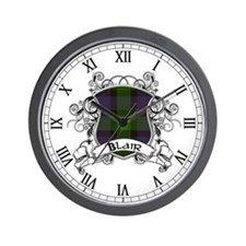 Blair Tartan Shield Wall Clock