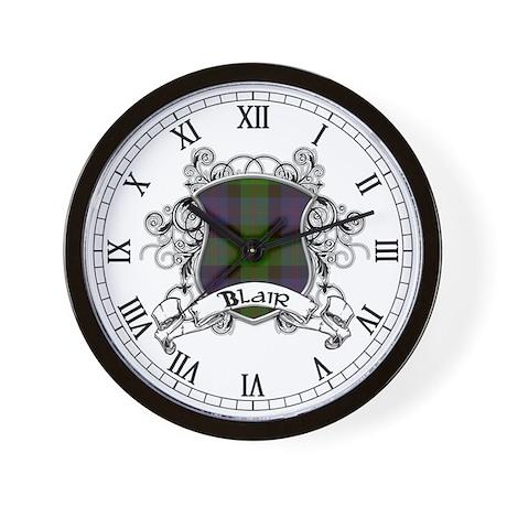 Blair Tartan Shield Wall Clock