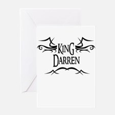 King Darren Greeting Card