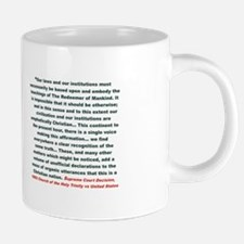 America is a Christian nati 20 oz Ceramic Mega Mug