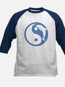 Blue Dolphin Yin Yang Kids Baseball Jersey