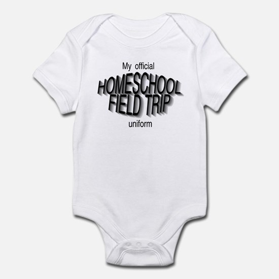Field Trip Uniform in Gray Infant Bodysuit