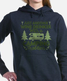 Wine Drinker Camping Sweatshirt