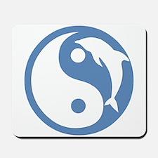 Blue Dolphin Yin Yang Mousepad