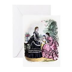 LA MODE ILLUSTREE - 1871 Greeting Cards (Pk of 20)