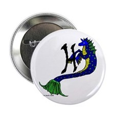 """H is for Hippocampus 2.25"""" Button (10 pack)"""