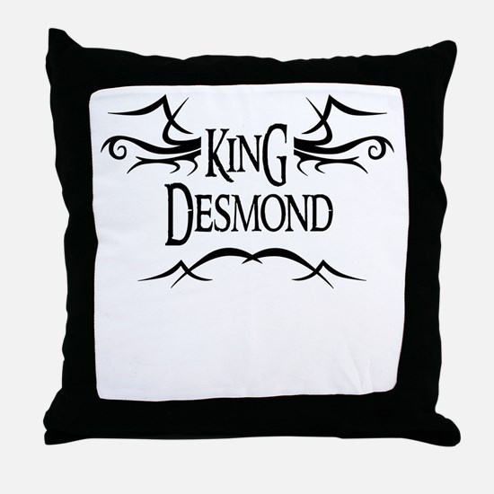King Desmond Throw Pillow