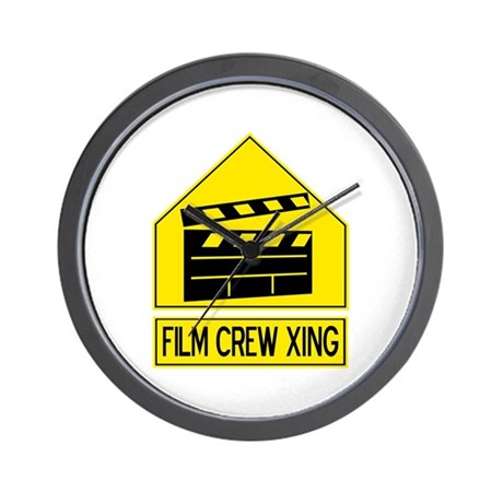 Film Crew Wall Clock