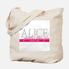 Alice- Quirkier than you Tote Bag
