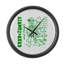 Funny Grabazombie Flinch Zombie F Large Wall Clock