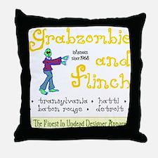 Funny Grabazombie Zombie Fashion Throw Pillow