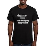 I'm Bringing Lazy Back Men's Fitted T-Shirt (dark)