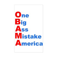 One Big Ass Mistake America Rectangle Decal