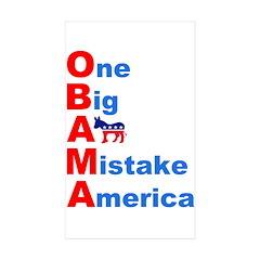 One Big A** Mistake America Rectangle Sticker 10