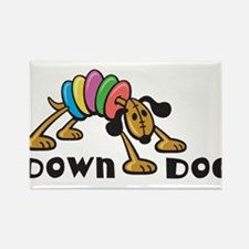 Down Dog Rectangle Magnet (100 pack)