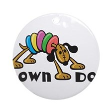 Down Dog Ornament (Round)