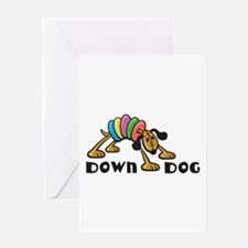 Down Dog Greeting Card