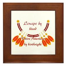 """""""Lenape"""" Framed Tile"""