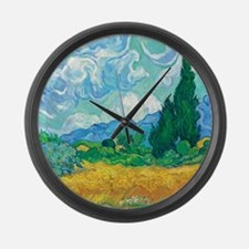 Cypresses Large Wall Clock