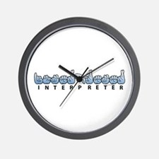 Interpreter Blue Wall Clock