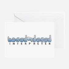 Interpreter Blue Greeting Card