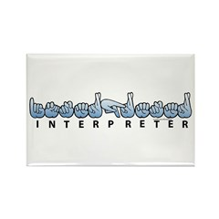 Interpreter Blue Rectangle Magnet (100 pack)