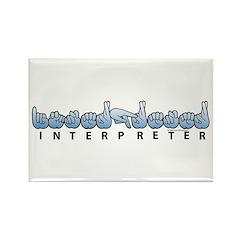 Interpreter Blue Rectangle Magnet