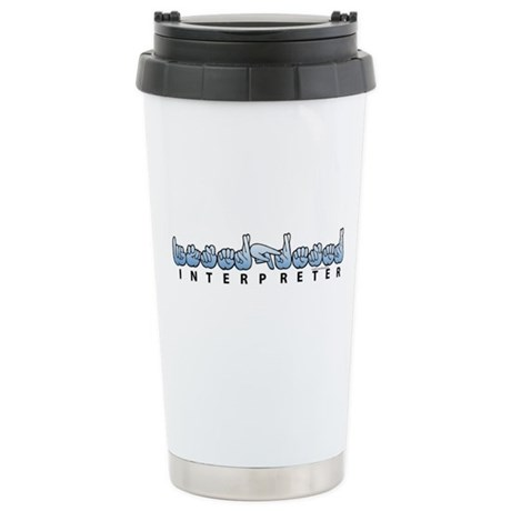 Interpreter Blue Stainless Steel Travel Mug