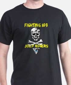 US NAVY VF-103 JOLLY ROGERS Black T-Shirt