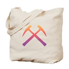Sunset Crossed Rock Hammers Tote Bag