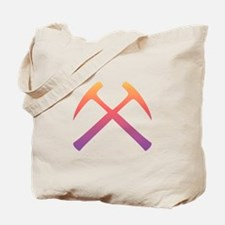 Sunset Crossed Rock Hammers Tote Bag