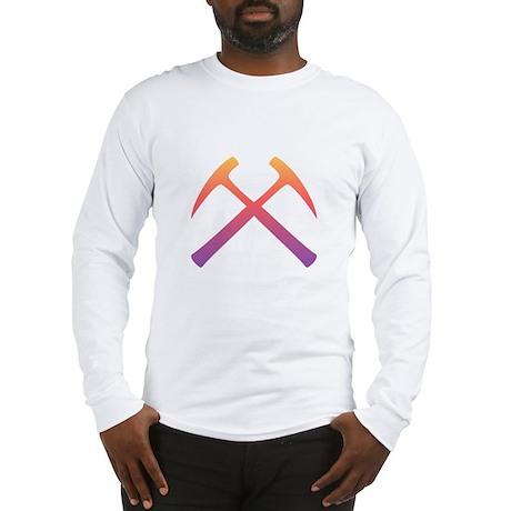 Sunset Crossed Rock Hammers Long Sleeve T-Shirt