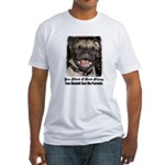 LAUGHING PUG  Fitted T-Shirt