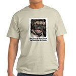 LAUGHING PUG  Ash Grey T-Shirt