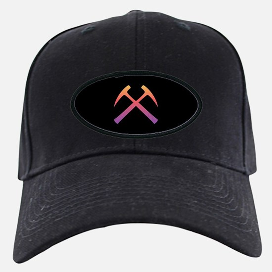 Sunset Crossed Rock Hammers Baseball Hat