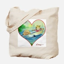 Funny Romance novel art Tote Bag